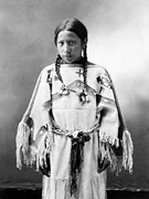 Oglala Framed Prints - SIOUX GIRL, c1900 Framed Print by Granger