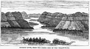 1876 Prints - Sioux: Rosebud River Print by Granger