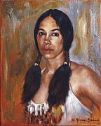 Sioux Framed Prints - Sioux Woman Framed Print by Harvie Brown