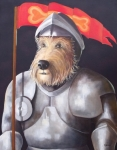 Barking Painting Metal Prints - Sir Barksalot Metal Print by Diane Daigle