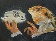 Sir Bearded-dragon As Hamlet Print by Jessmyne Stephenson