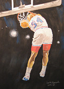 Basketball Paintings - Sir Charles by Keith Hancock