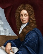 Great Architect Framed Prints - Sir Christopher Wren, English Architect Framed Print by Maria Platt-evans
