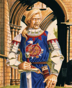 Knight Of The Round Table Posters - Sir Dinadan Poster by Melissa A Benson