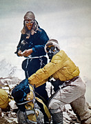 Sunglasses Framed Prints - Sir Edmund Hillary Framed Print by Granger