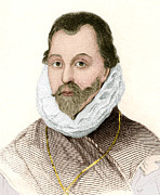 Portriat Prints - Sir Francis Drake, English Explorer Print by Sheila Terry