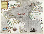 Cartography Photos - Sir Francis Drakes Voyage 1585-1586 by Library Of Congress