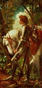 Fantasy Tapestries Textiles Posters - Sir Galahad Poster by George Frederic Watts