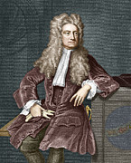 Physicist Framed Prints - Sir Isaac Newton, British Physicist Framed Print by Sheila Terry