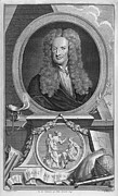 1600s Posters - Sir Isaac Newton, English Physicist Poster by Middle Temple Library