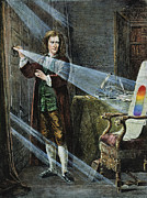 Mathematician Prints - Sir Isaac Newton Print by Granger