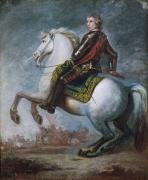 English Horse Portraits Framed Prints - Sir Jeffrey Amherst Framed Print by Sir Joshua Reynolds