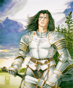 Knight Of The Round Table Posters - Sir Lancelot Poster by Melissa A Benson