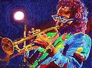 Miles Framed Prints - Sir Miles Davis Framed Print by David Lloyd Glover