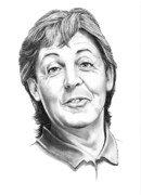 Famous People Drawings - Sir Paul McCartney by Murphy Elliott