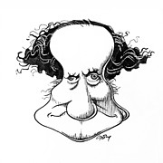 Sir Richard Owen, Caricature Print by Gary Brown