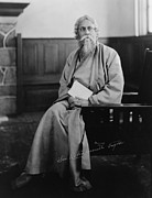 Portrait Painter Prints - Sir Tagore Rabindranath, 1861-1941 Print by Everett