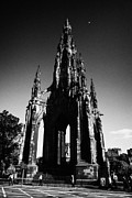 Princes Photo Posters - Sir Walter Scott Monument Princes Street Edinburgh Scotland Uk United Kingdom Poster by Joe Fox