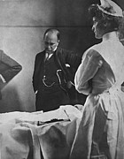 Nurse Framed Prints - Sir William Osler 1849 – 1919, Reading Framed Print by Everett