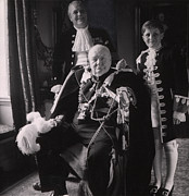Grandson Framed Prints - Sir Winston Churchill Front, His Son Framed Print by Everett