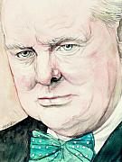 British Prime Minister Prints - sir Winston Churchill Print by Morgan Fitzsimons