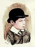 Schoolboy Framed Prints - Sir Winston Churchill Schoolboy Framed Print by Morgan Fitzsimons