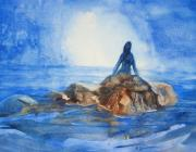 Mermaid Paintings - Siren Song by Marilyn Jacobson