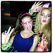 40th Photos - #siri #mia #party #neon #1980 #80s by Joe Trethewey