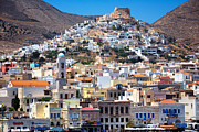 Northeastern Aegean Islands Framed Prints - Siros Framed Print by Emmanuel Panagiotakis