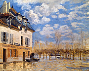 Flood Art Photo Prints - Sisley: Flood, 1876 Print by Granger