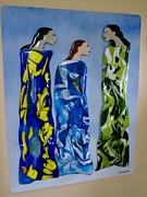 Women Glass Art - Sisterhood by Eleanor Brownridge