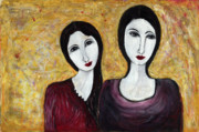 Sisters Paintings - Sisters by Kerry Cole
