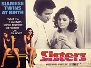 Brian De Palma Prints - Sisters, Lisle Wilson, Margot Kidder Print by Everett