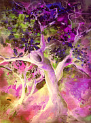 Tree Blossoms Drawings - Sisters by Miki De Goodaboom