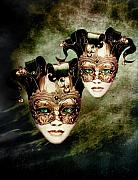 Green Eyes Prints - Sisters Print by Photodream Art