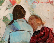 Sisters Paintings - Sisters by Rosa McMurtray