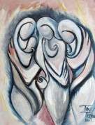 Relationship Paintings - Sisters by Toni  Thorne