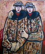 Union Square Painting Prints - Sisters Print by Yulonda Rios