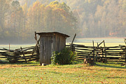 Split Rail Fence Prints - Sit A Spell  Print by Gary L Suddath