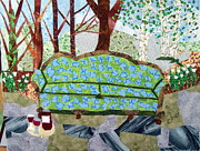 Outdoors Tapestries - Textiles Prints - Sit a While Print by Charlene White