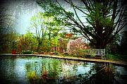 Monmouth County Prints - Sit And Ponder - Deep Cut Gardens Print by Angie McKenzie