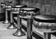 Stools Prints - Sit Down and Have a Bite to Eat Print by Brian Mollenkopf