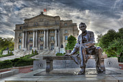 Lion Art - Sit With Me - Seated Lincoln Memorial by Gutzon Borglum  by Lee Dos Santos