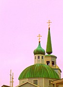 Onion Dome Framed Prints - Sitka Russian Orthodox 1 Framed Print by Randall Weidner