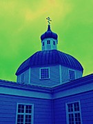 Onion Dome Prints - Sitka Russian Orthodox 2 Print by Randall Weidner