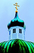 Onion Domes Art - Sitka Russian Orthodox 4 by Randall Weidner