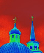 Onion Domes Art - Sitka Russian Orthodox 6 by Randall Weidner