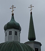 Onion Domes Art - Sitka Russian Orthodox 7 by Randall Weidner