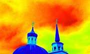 Onion Domes Art - Sitka Russian Orthodox 8 by Randall Weidner