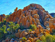 National Park Paintings - Sitting Above The Rock Pile by Michael Pickett